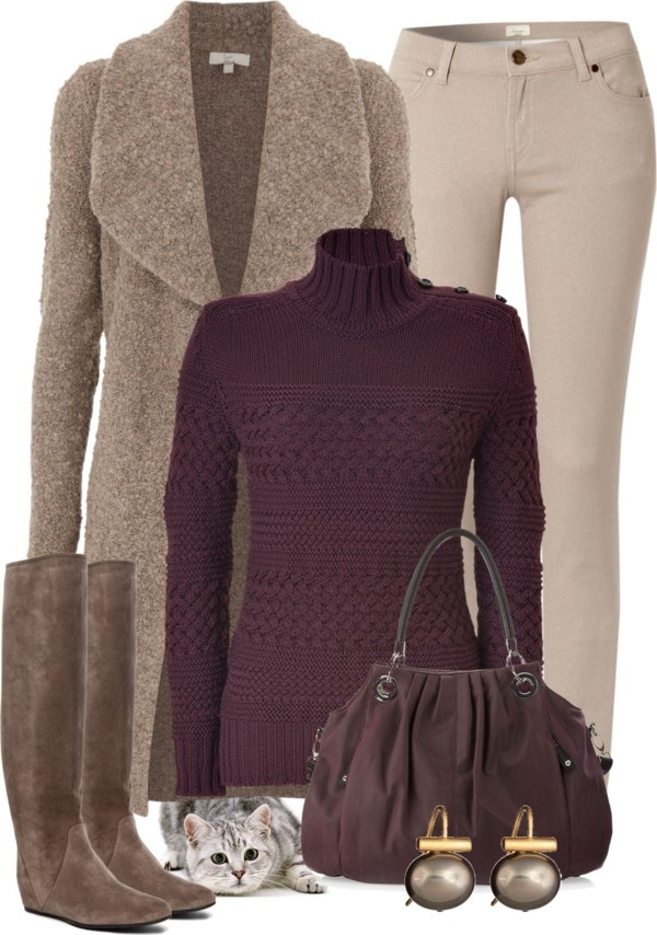 """""""Warm & Casual"""" by katc ❤ liked on Polyvore"""