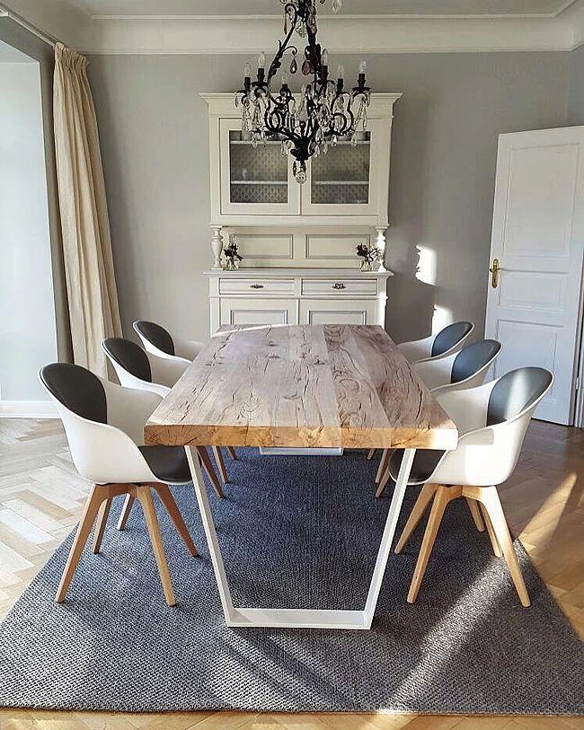 Hochwertig Betontisch Esstisch Modern Massiv Holz Auf Beton Nach Maß | Holzwerk Hamburg