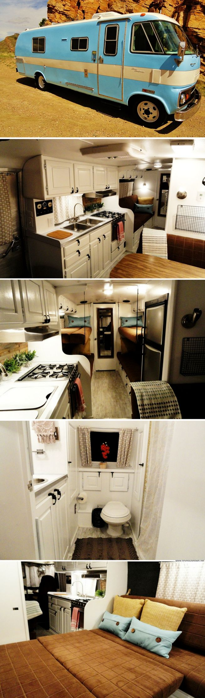 A 1975 Travco that's been upgraded for full-time and off-grid living! It's currently available for sale in Colorado.