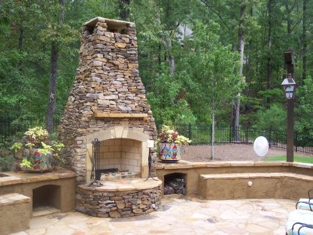 How to build an outdoor fireplace on a budget on pinterest for Outdoor fireplace ideas on a budget