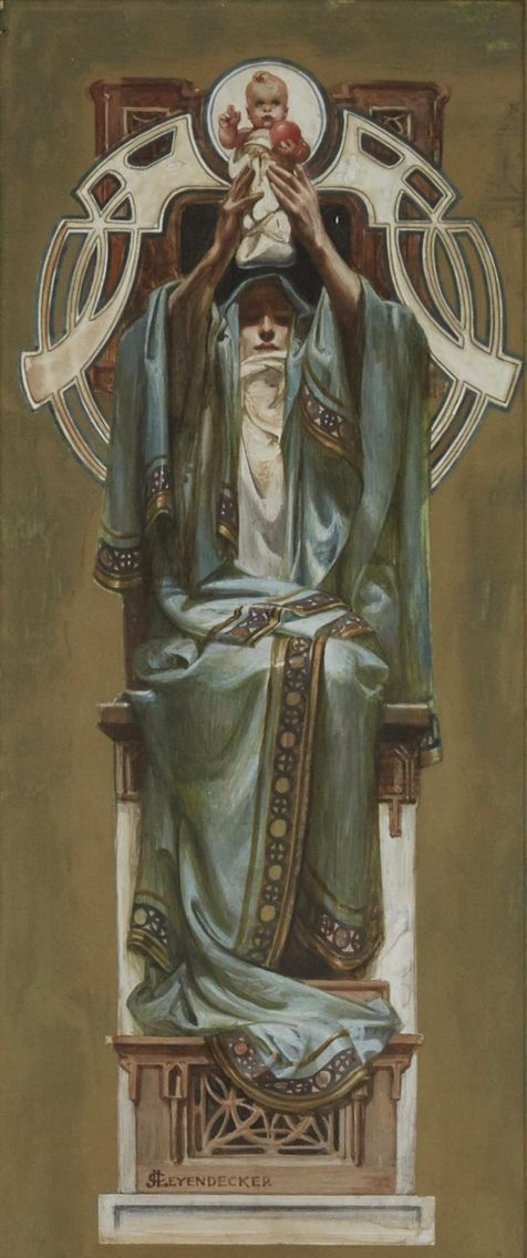 Madonna and Child 1902 - by JC Leyendecker - Painter for the Rosicrucian Order.