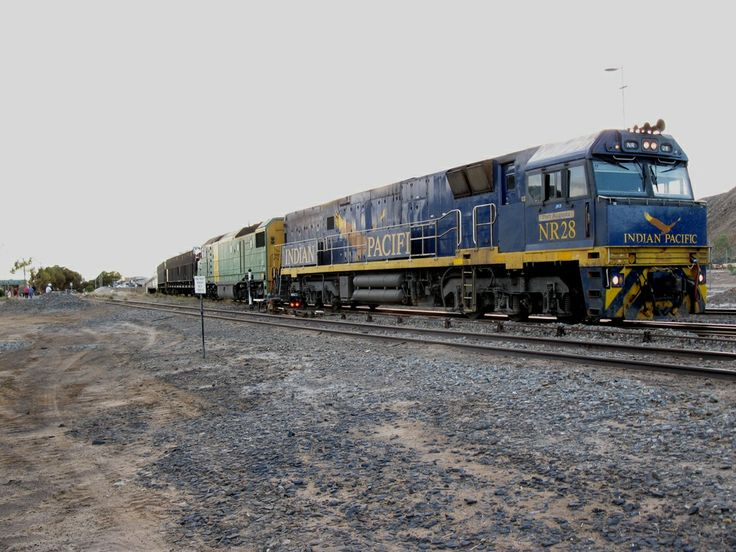 The Indian Pacific paused at the remote silver lead & zinc mining city of Broken Hill, on its way to Perth, Western Australia.