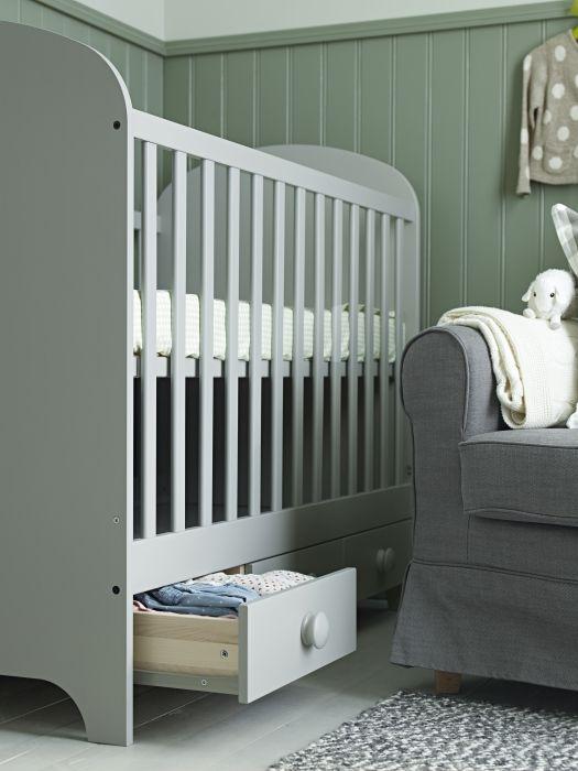gonatt crib light gray