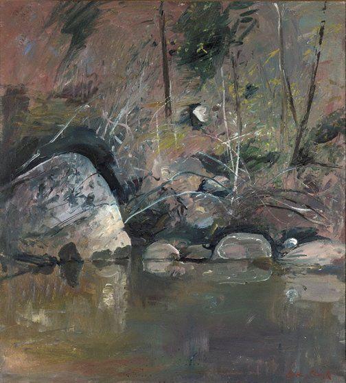 An image of Reflecting rocks by Arthur Boyd