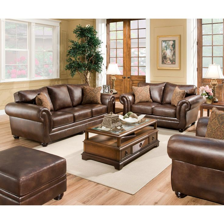 CONNS Leather Sofa