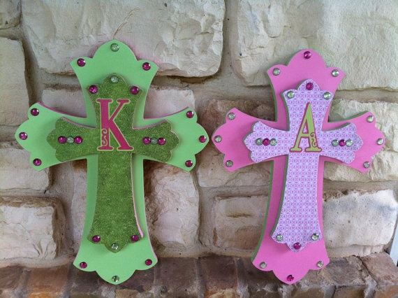 Custom Wooden BLING Crosses by DLoveCouture on Etsy, $35.00