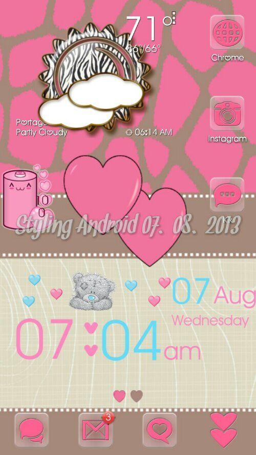 Cobblestone Heart Go Theme and Android Homescreens