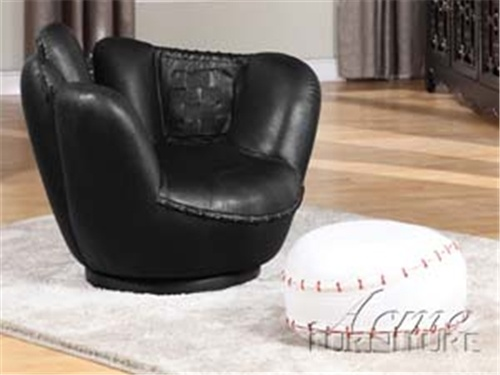 Kids Baseball Glove Chair With White Baseball Ottoman ACME Glove Chair  Measurements: X Baseball Ottoman Measurement
