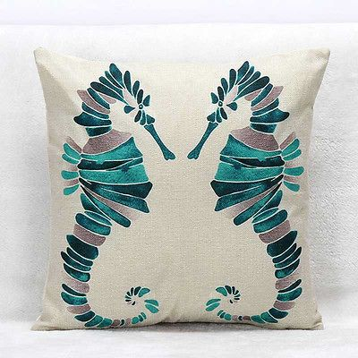 1Pc Home Decor Hold Pillow Cushion Covers Back Cushion Sets Ink Painting Animals