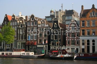 View over some houses in Amsterdam