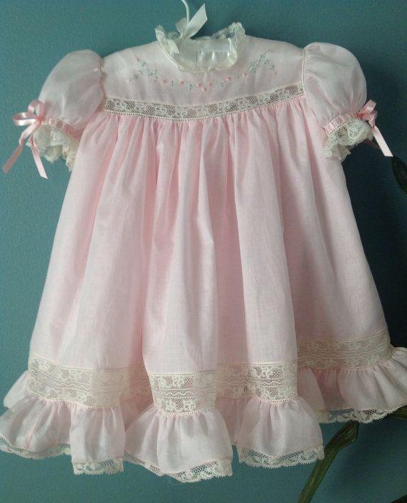 Vestido bebe rosa Pastel