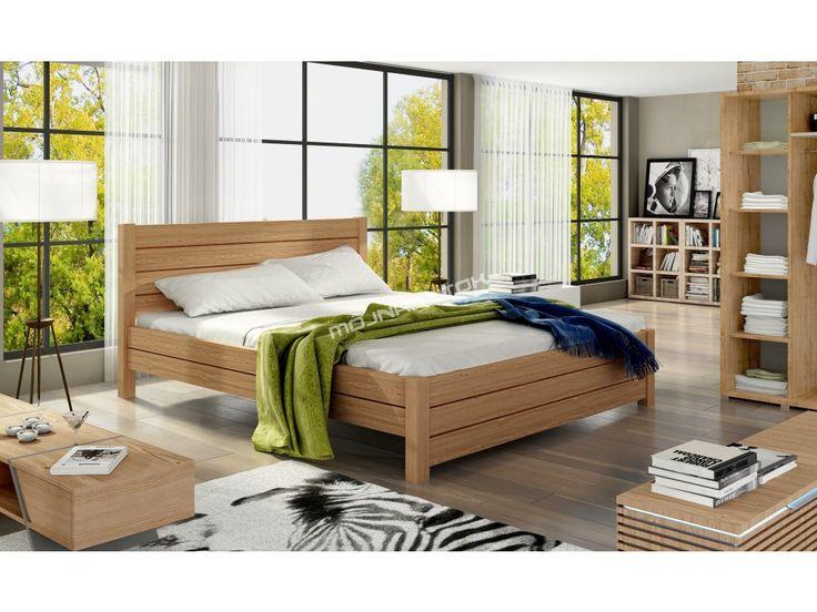 Dokonalá manželská posteľ HENRY / 140x200 vyrobená z kvalitného masívneho dreva.