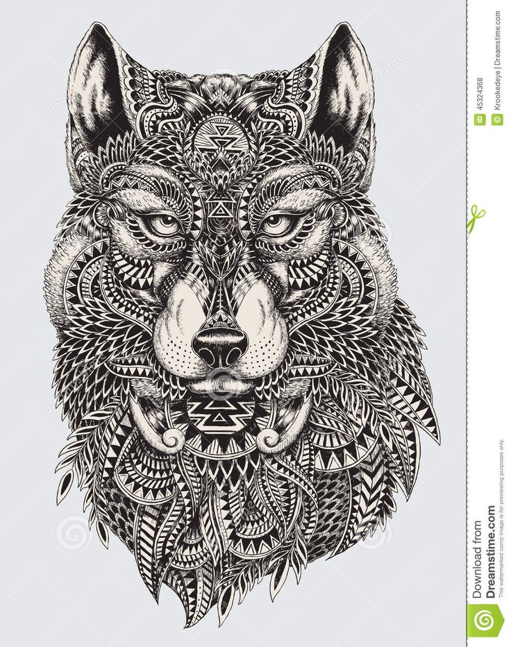 Highly Detailed Abstract Wolf Illustration - Download From Over 29 Million High Quality Stock Photos, Images, Vectors. Sign up for FREE today. Image: 45324368