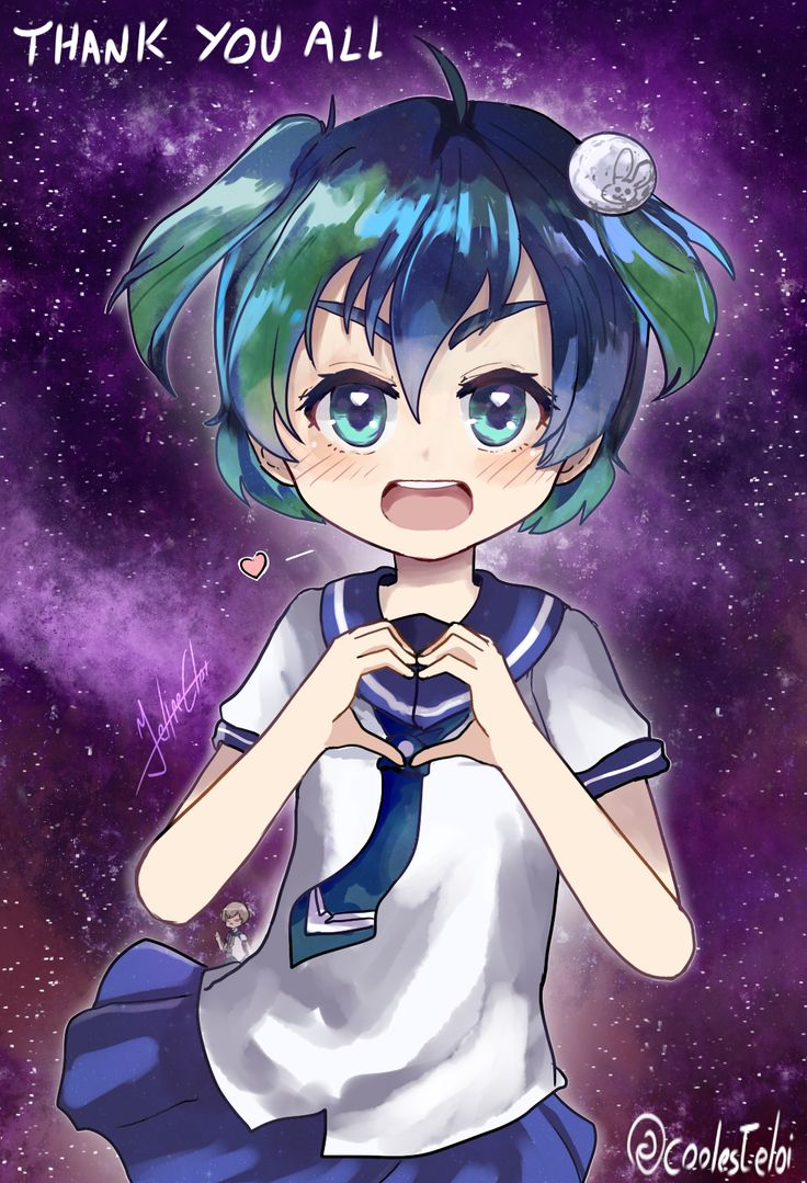Thanks for everyone who's like my version of earth-chan (-' u <- v by felipecunhaeloi | Earth-chan | Know Your Meme