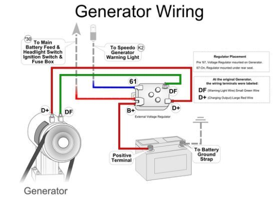 vw beetle alternator wiring scematic wiring diagram img VW Generator to Alternator Conversion