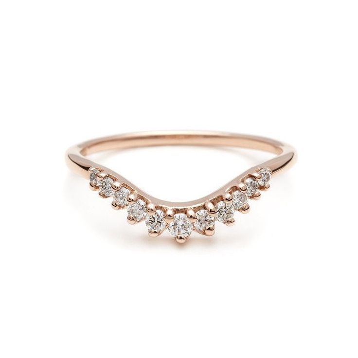 25 Best Ideas About Curved Wedding Band On Pinterest