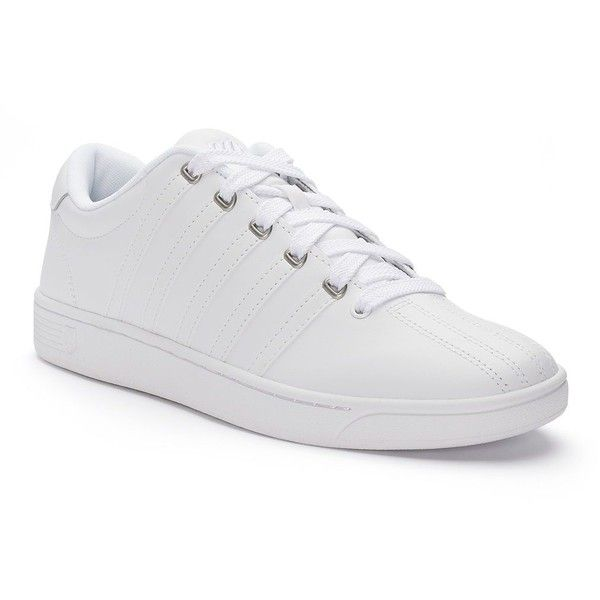 K-Swiss Court Pro II CMF Men's Sneakers ($50) ❤ liked on Polyvore featuring men's fashion, men's shoes, men's sneakers, white oth, mens white tennis shoes, mens memory foam sneakers, mens shoes, mens tennis shoes and mens white sneakers