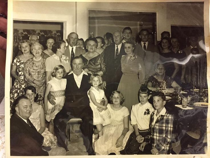 Gram Parson's family photo: His mother(Big Avis) is top right in the large group shot, 3rd adult from the right edge in dark dress,  behind the lady seated at the table. Gram's sister, Little Avis is on her grandfather's arm on the right. ⊰✿daisy jane