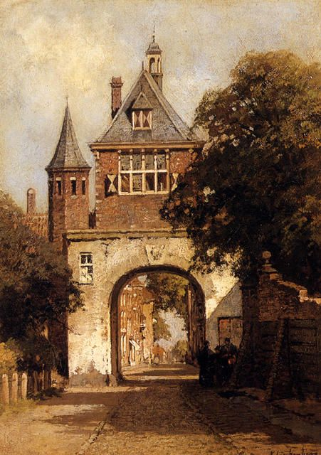 A City Gate ~ Johannes Christiaan Karel Klinkenberg
