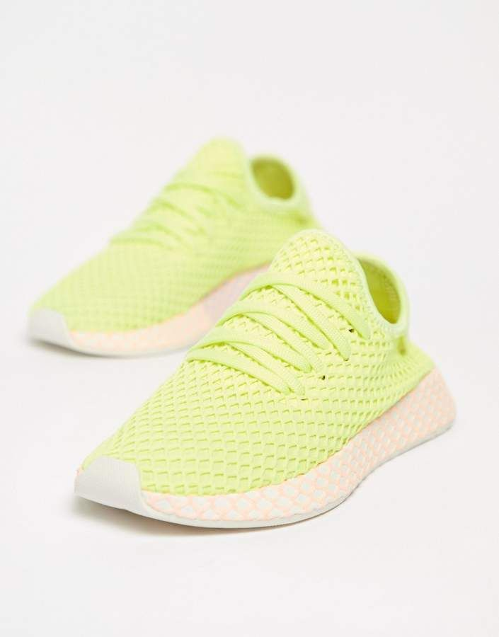 adidas Originals Deerupt Sneakers In Yellow And Lilac ...