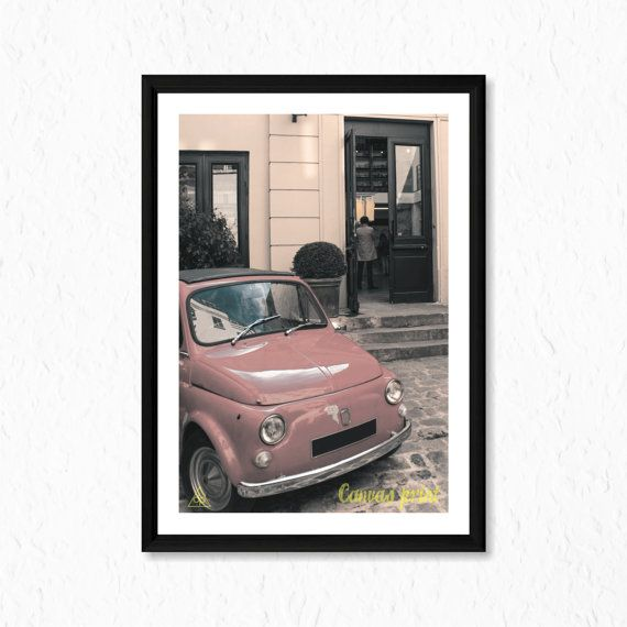 Classic Fiat 500 Canvas Print Ready To Frame High by decalplaza, $17.99