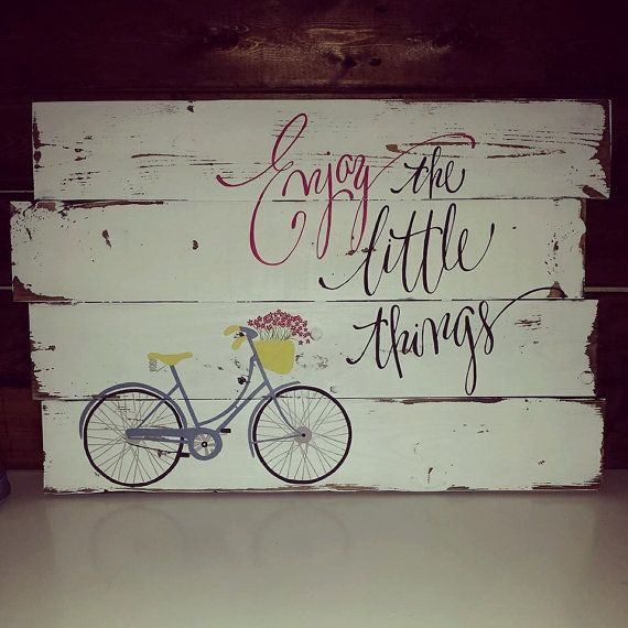 Hand painted pallet wood sign