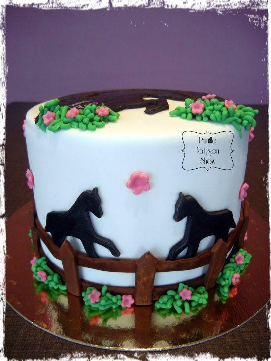 Les 25 meilleures id es de la cat gorie g teau cheval sur pinterest qui est n le m me jour - Decoration gateau cheval ...