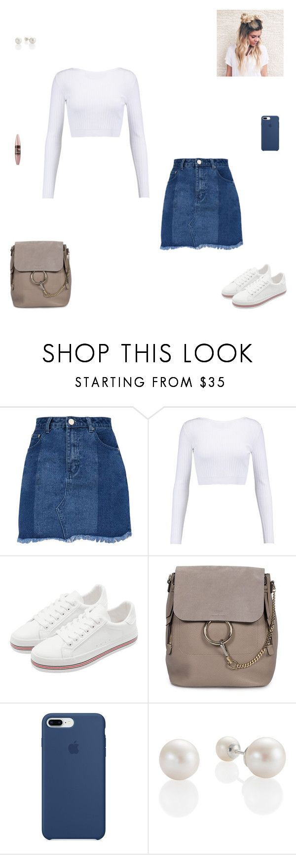"""""""Trendy outfit #8"""" by synclairel ❤ liked on Polyvore featuring Cushnie Et Ochs, Chloé, Apple and Maybelline"""