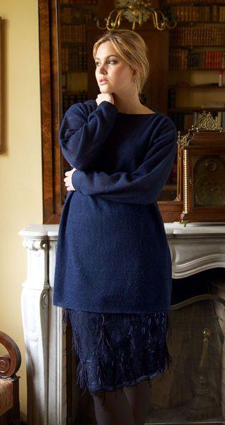 Пуловер - выкройка № 143 B из журнала 10/2012 Burda – выкройки пуловеров на Burdastyle.ru