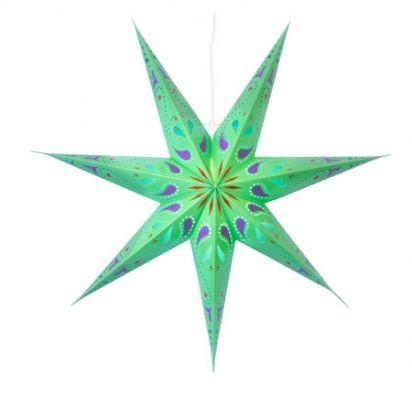 Siri grön pappersstjärna - Uttaget.se