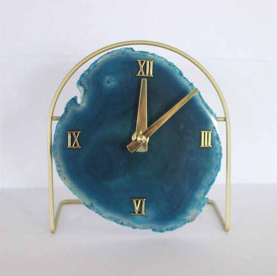 made to order agate clockmodern desk clockmodern wall clockagate wall clockagate desk clockwood wall clocktrending clockboho decor - Modern Designer Wall Clocks