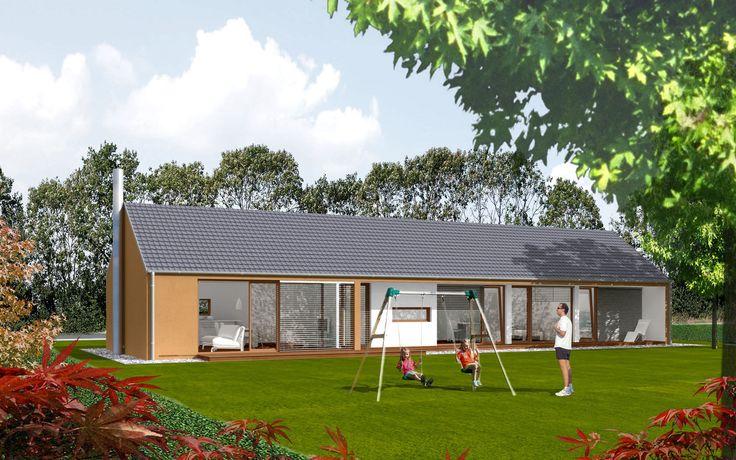 Maison Préfabriquée Bois - Maison préfabriquée contemporaine ossature bois à 2étages EK 004 ekokoncept, wooden