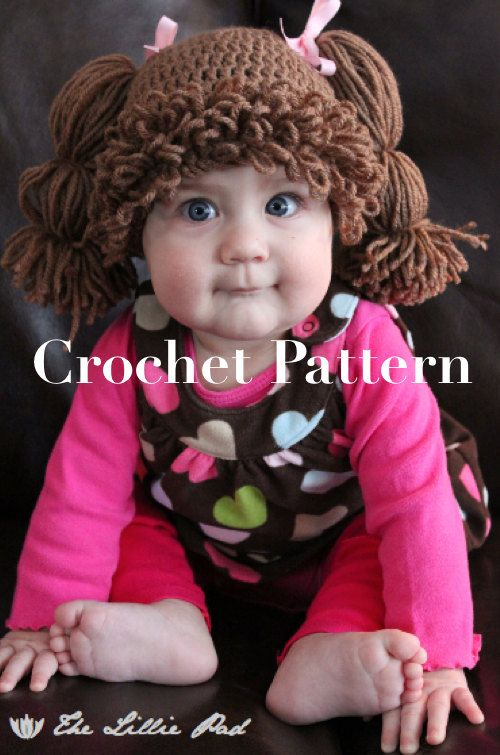 Cabbage Patch Kid Inspired Hat Crochet PATTERN  por TheLilliePad, $5.99