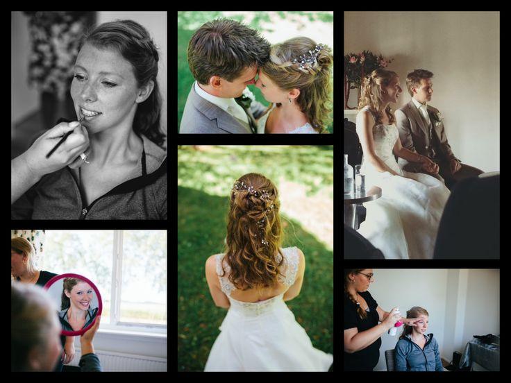 Haar en Make-Up bij mijn nichtje mogen verzorgen op gaar trouwdag. Hoe bijzonder