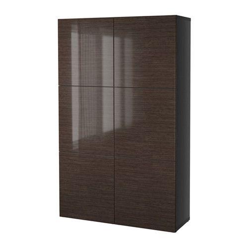 Best Bestå Storage Combination With Doors Black Brown 400 x 300