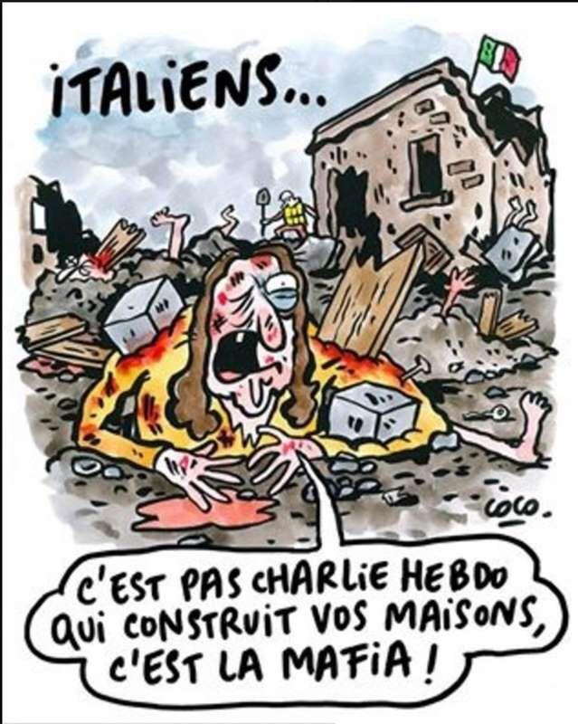 Risposta di Charlie Hebdo sul terremoto in Italia  https://ki.noblogs.org/risposta-di-charlie-hebdo-sul-terremoto-in-italia/
