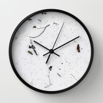 Wall Clock • 'Snø' • IN STOCK • $30.00 • Go to the store by clicking the item.