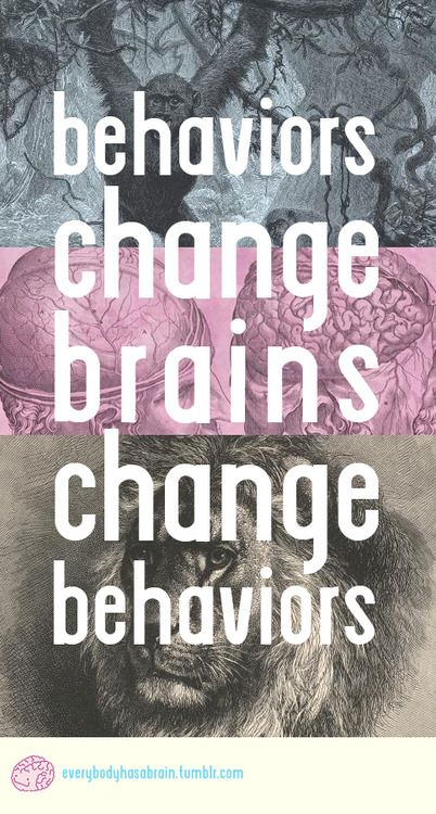 Yeah, your brain affects what you do, and what you do changes your brain, and that affects what you do, which changes your brain, etc: Brain Changers, Yeah, Change Brains, Behavior Change, Anxiety Disorders, Positivequotes Anxiety, Behaviors Change, Mental Illness, Brains Change