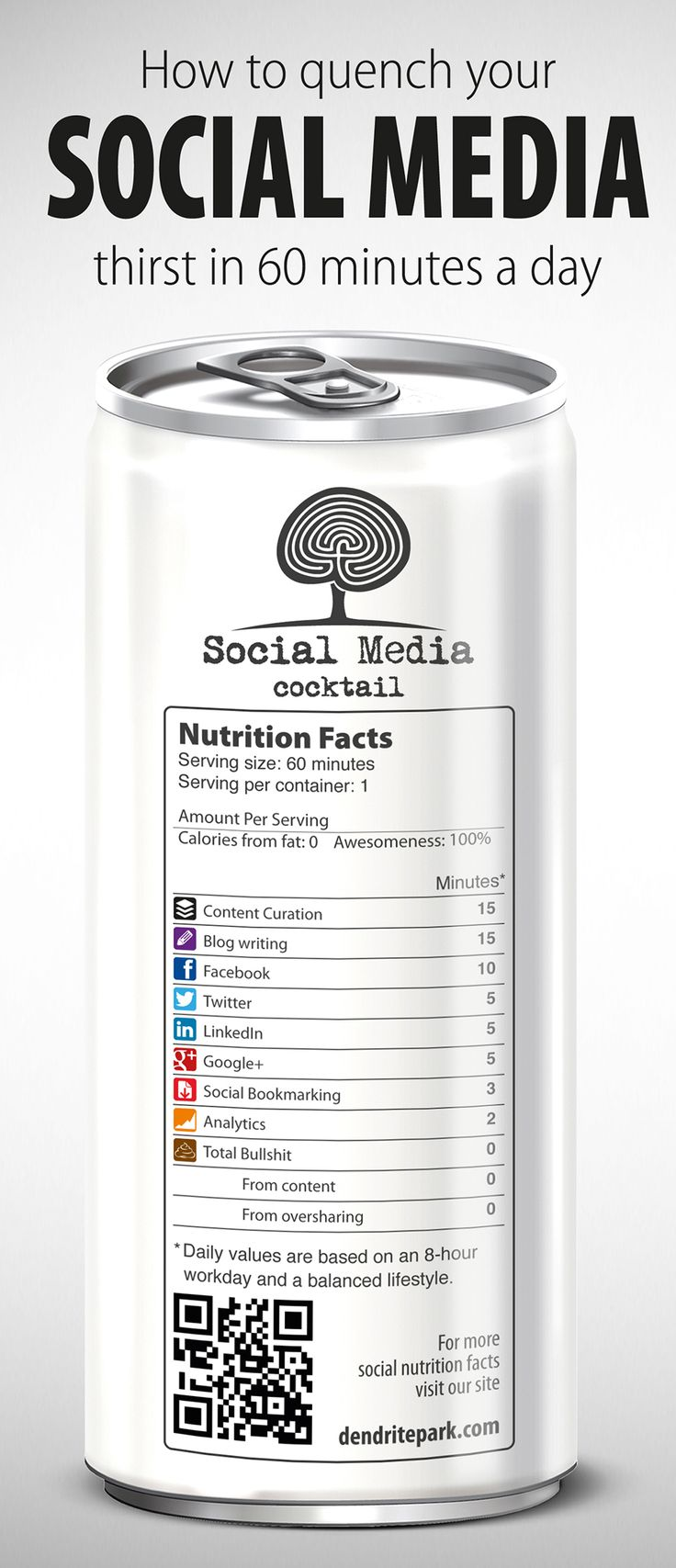 InfoGraphic: How to Get Your Social Media Fix in Just 60 Minutes a Day | Dendrite Park
