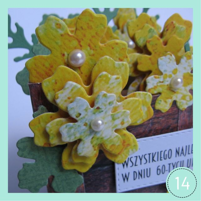 ProjectGallias dla DIY: Kartka - skrzynia z kwiatami, kartka 3D