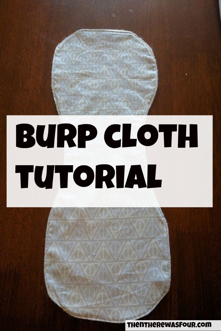 Burp Cloth Tutorial- A picture tutorial on how to make a burp cloth. |Thentherewasfour.com| sewing| burp cloth tutorial| free sewing tutorial|