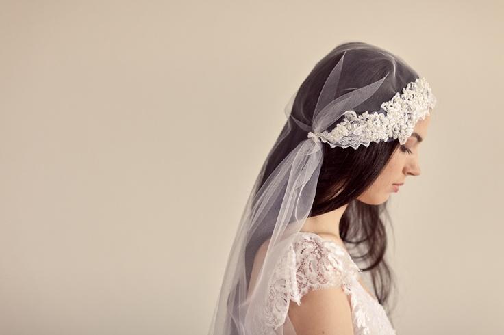 Belle Du Jour - Floor length lace veil -Amanda May