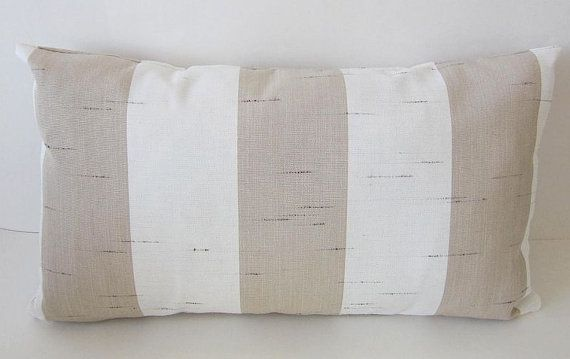 Sunbrella Pillows Sunbrella Decade Sand by DesignerPillows4U