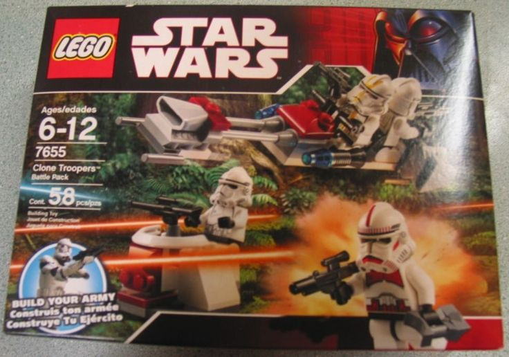 Star Wars LEGO Clone Troopers Battle Pack #7655 New in Box