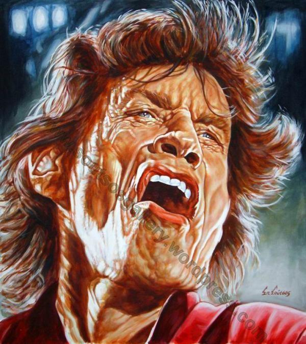Mick Jagger by Spiros-Soutsos