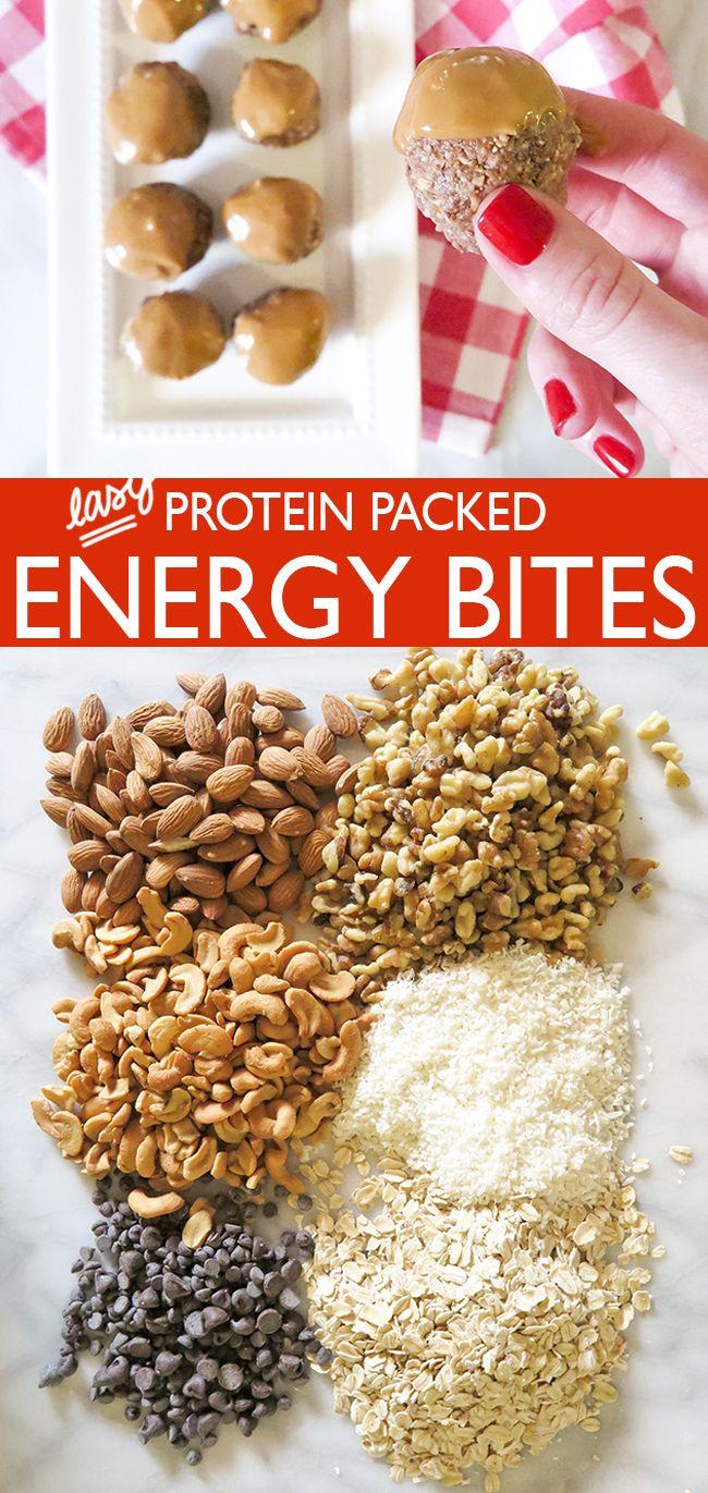 Easy Protien Packed Energu Bites - Ashley Brooke Designs