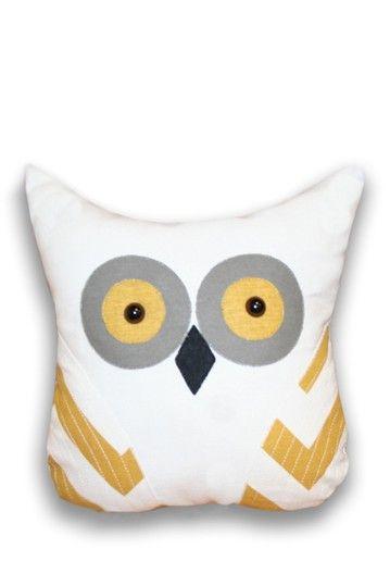Tootsie Applique Owl Shaped Pillow