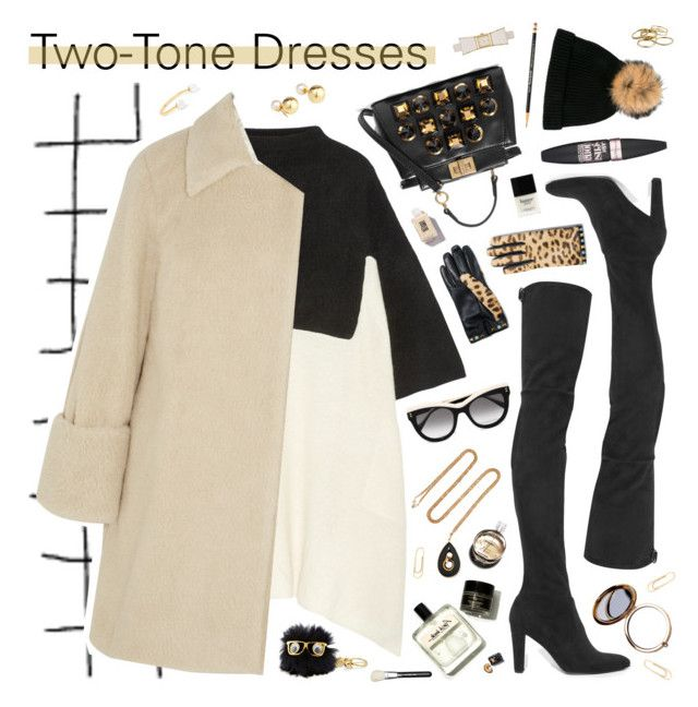 """On Trend: Two-Tone Dresses"" by almost-glamorous ❤ liked on Polyvore featuring The Elder Statesman, Fendi, STELLA McCARTNEY, MM6 Maison Margiela, Stuart Weitzman, N.Peal, Fred Leighton, Yoko London, Kate Spade and Delfina Delettrez"