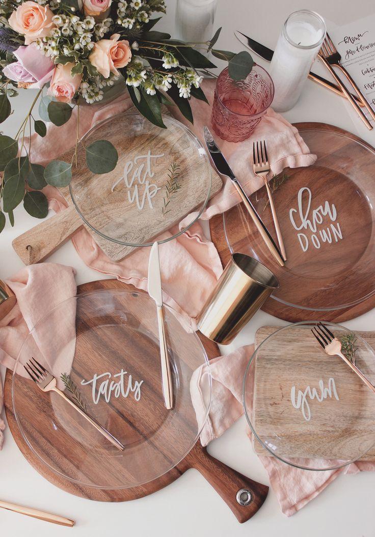 Hand lettered dinner plate DIY   A Fabulous Fete