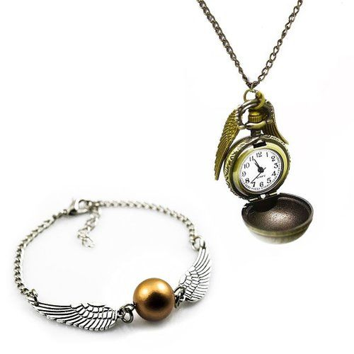 Schmuckset von Vergold Taschenuhr Halskette und Retro Legierung Armband-Verpackung mit Geschenkschachtel